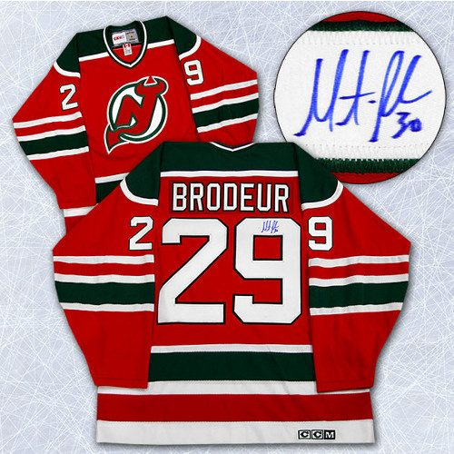 Martin Brodeur Signed Jersey New Jersey Devils CCM #29 1st NHL Game Jersey