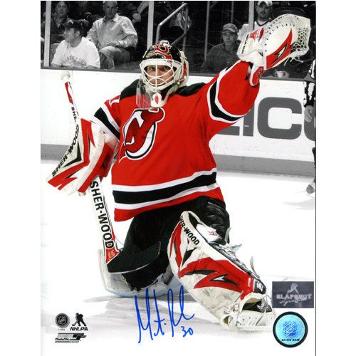 Martin Brodeur Signed Photo New Jersey Devils Goalie Spotlight 8x10