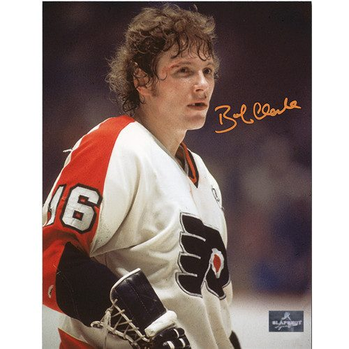 Bobby Clarke Hockey Photo Philadelphia Flyers Bloody Warrior Signed 8x10