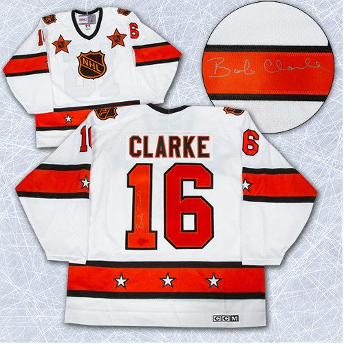 Bobby Clarke Signed Jersey 1974 All Star Game CCM Vintage Hockey Jersey