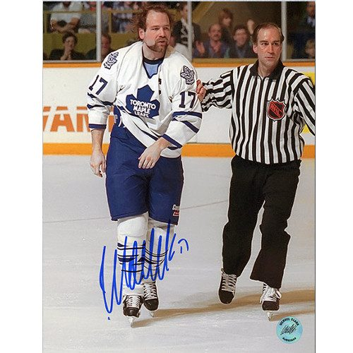 Wendel Clark Captain Crunch Toronto Maple Leafs Signed 8x10 Photo