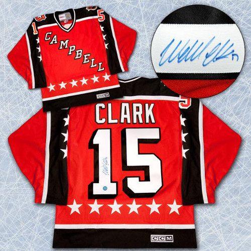 Wendel Clark Signed Jersey NHL All-Star Game Campbell Conf. Vintage CCM