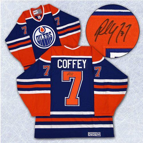 Paul Coffey Signed Edmonton Oilers Vintage Jersey