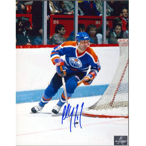Paul Coffey Signed Edmonton Oilers Playmaker Rush 8x10 Photo