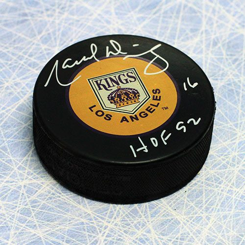 Marcel Dionne Hall of Fame LA Kings Signed Puck