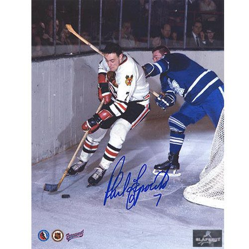 Phil Esposito Signed Picture Chicago Blackhawks 8x10