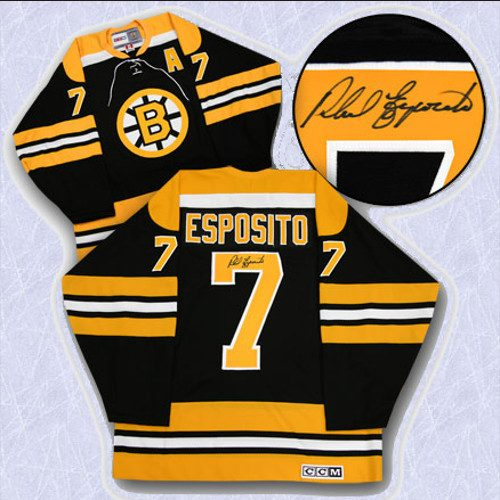 Phil Esposito Stanley Cup Boston Bruins Signed Vintage Jersey