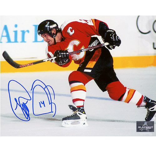 Theo Fleury Pictures Autographed Calgary Flames 8x10 Photo