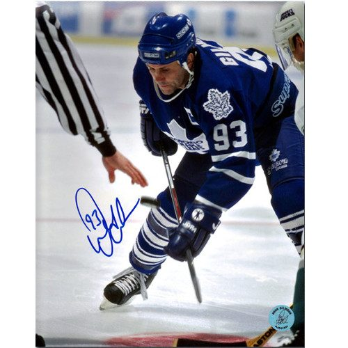 Doug Gilmour Toronto Maple Leafs Signed 8x10 Face Off Photo
