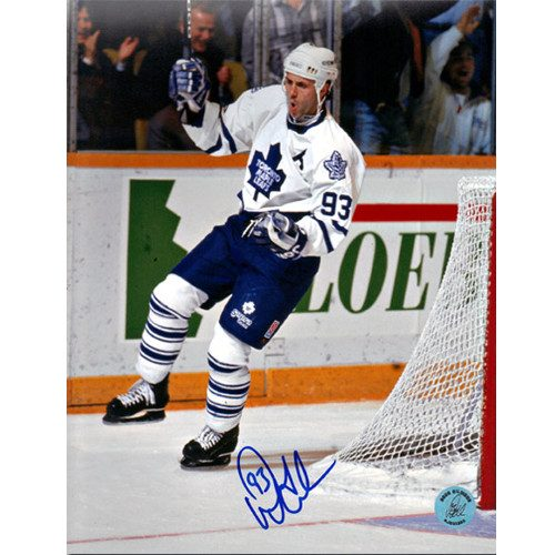 Doug Gilmour Goal Celebration Photo Toronto Maple Leafs Signed 8x10