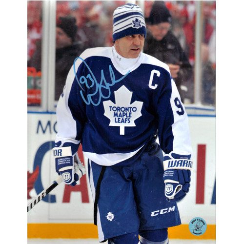 Doug Gilmour Winter Classic Alumni Photo Toronto Maple Leafs Signed 8x10