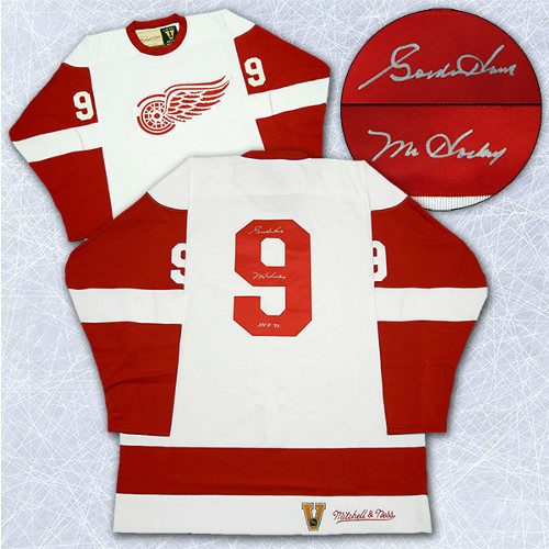 Gordie Howe Signed Jersey Detroit Red Wings Mitchell & Ness