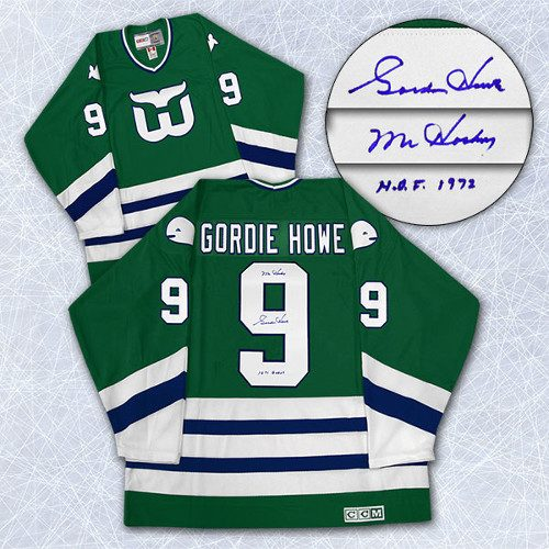 Gordie Howe Signed Jersey Hartford Whalers CCM Vintage