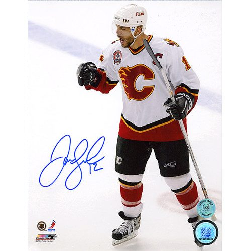 Jarome Iginla Stanley Cup Finals Calgary Flames 2004 Signed 8x10 Photo