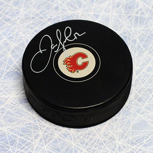 Jarome Iginla Calgary Flames Signed Hockey Puck
