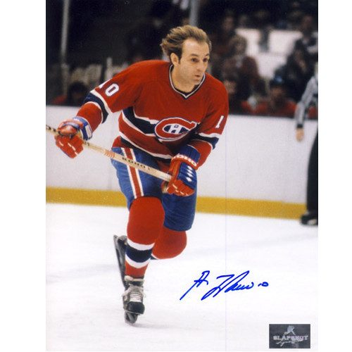 cd3522e47 Guy Lafleur Hockey Action Montreal Canadiens Hair Flowing Signed 8×10 Photo