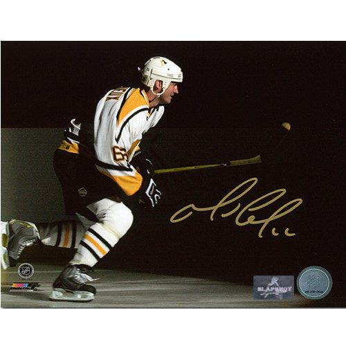 Mario Lemieux Playoffs Intro Pittsburgh Penguins Signed 8x10 Photo