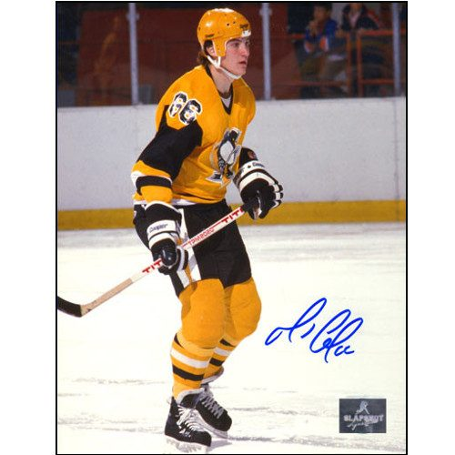 Mario Lemieux Rookie Season Pittsburgh Penguins Signed 8x10 Photo
