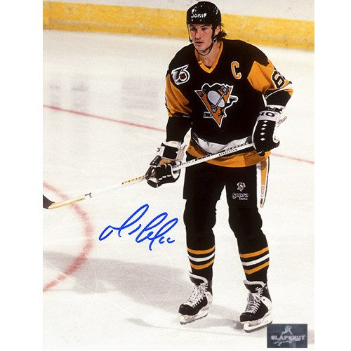Mario Lemieux Signed Photo Pittsburgh Penguins Game Action