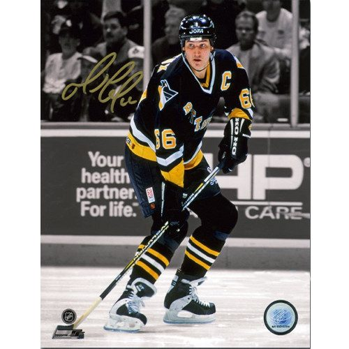 Mario Lemieux Pittsburgh Penguins Hockey Spotlight Signed 8x10 Photo