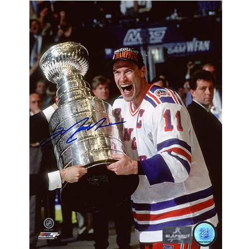 Mark Messier Highlights New York Rangers 94 Stanley Cup Signed Photo