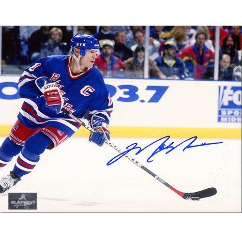Mark Messier New York Rangers Signed 8x10 Action Photo