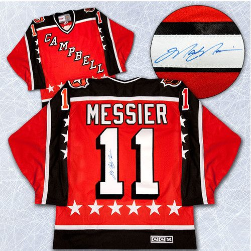 All-Star Game Mark Messier Jersey Campbell Conference Signed Vintage