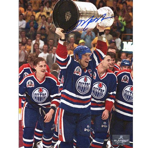 Mark Messier Edmonton Oilers 1990 Stanley Cup Signed Photo