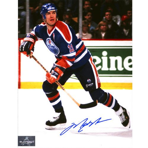 Mark Messier Signed Photo Edmonton Oilers Vintage Action