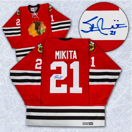 Stan Mikita Jersey Signed Vintage CCM Chicago Blackhawks