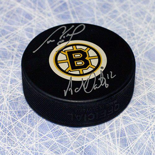 Cam Neely Adam Oates Boston Bruins Dual Signed Legendary LinematesHockey Puck