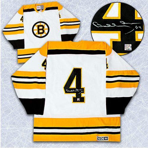 Bobby Orr Autographed Jersey Boston Bruins Vintage White CCM