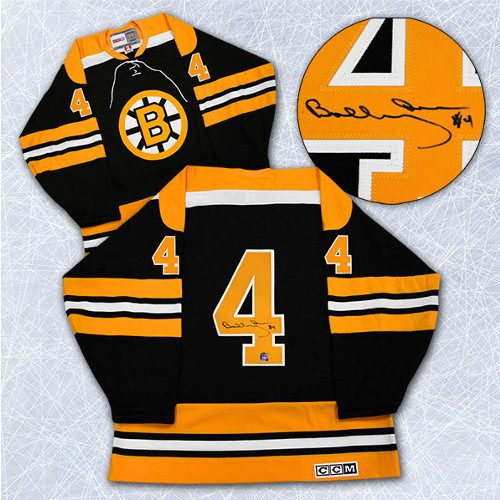 Bobby Orr Signed Jersey Boston Bruins Vintage Black CCM Jersey