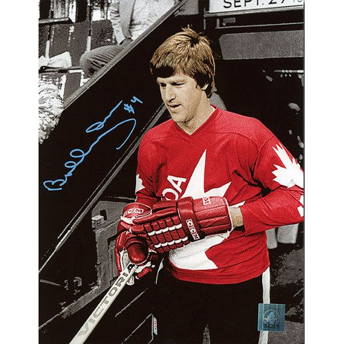 Bobby Orr Signed Picture 1976 Canada Cup Spotlight Photo COA: GNR
