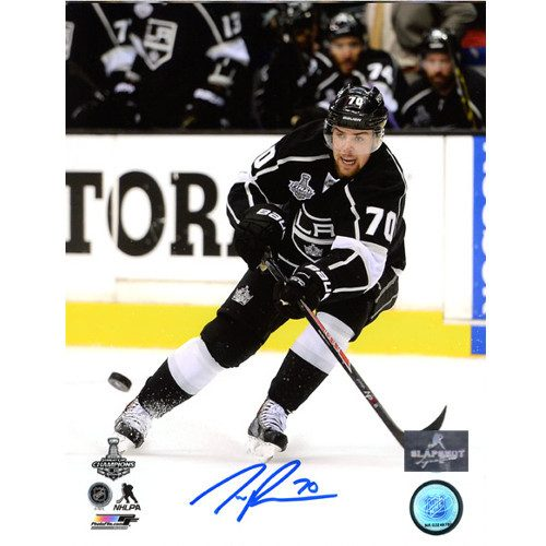 Tanner Pearson LA Kings Stanley Cup Action Signed Photo 8x10