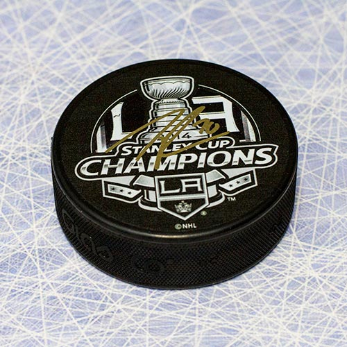 Tanner Pearson LA Kings 2014 Stanley Cup Signed Puck