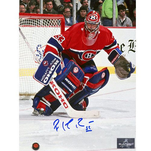Patrick Roy Montreal Canadiens Goal Defense Signed 8x10 Photo