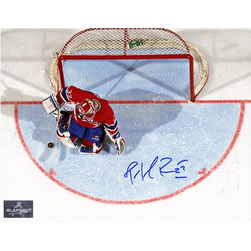 Montreal Canadiens Patrick Roy Overhead Signed 8x10 Photo