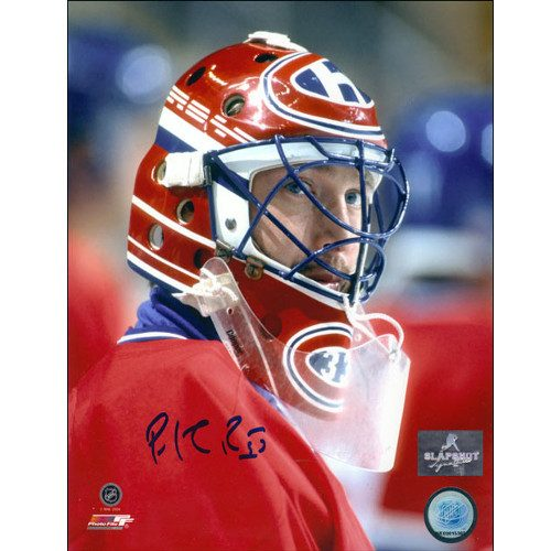 Patrick Roy Mask Close-up Montreal Canadiens Signed 8x10 Photo