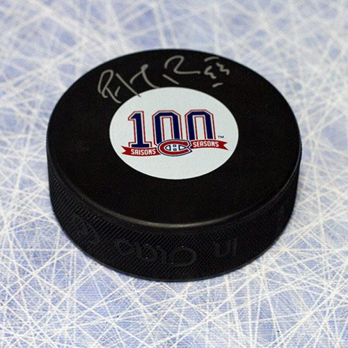 Montreal Canadiens 100th Anniversary-Patrick Roy Signed Hockey Puck