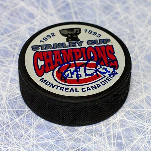 Patrick Roy 1993 Stanley Cup Montreal Canadiens Signed Hockey Puck