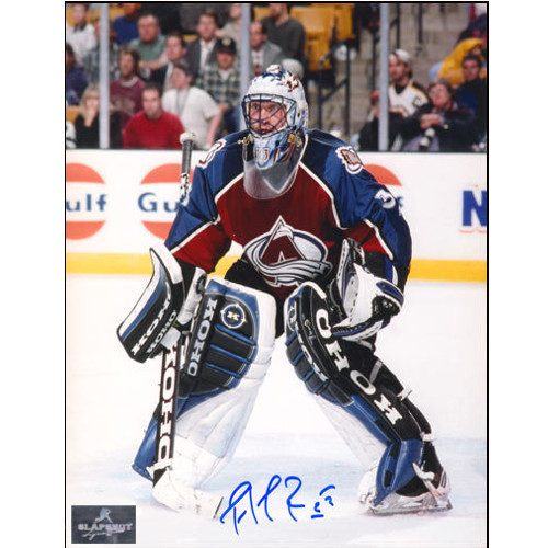 Patrick Roy Colorado Avalanche Game Action Signed 8x10 Photo