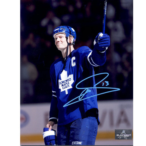 Mats Sundin Autograph Photo Toronto Maple Leafs Franchise Points Record