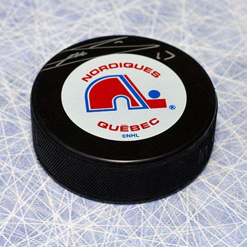 Mats Sundin Signed Puck Quebec Nordiques Hockey Puck