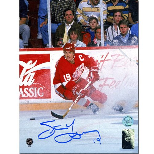 Steve Yzerman 1997 Stanley Cup Detroit Red Wings Signed 8x10 Photo|Steve Yzerman Detroit Red Wings Ice Spray Signed 8x10 Photo