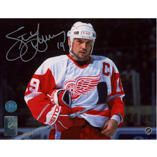 Steve Yzerman Detroit Red Wings Intensity Signed 8x10 Photo