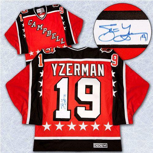 Steve Yzerman Signed Jersey-NHL All-Star Game Rookie 1984 Campbell Vintage  Jersey bd210b92a