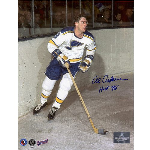Al Arbour St Louis Blues Captain Signed 8x10 Photo