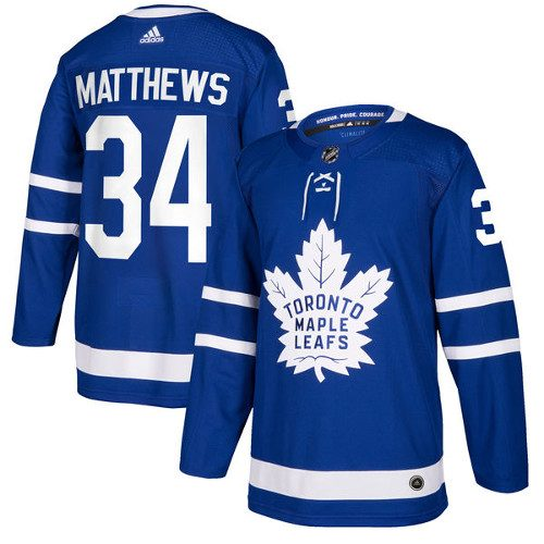 Auston Matthews Toronto Maple Leafs Adidas Authentic Home NHL Hockey Jersey