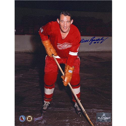 Bill Gadsby Detroit Red Wings Signed 8x10 Photo